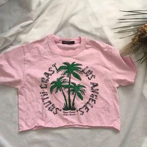 Nasty Gal Los Angeles Crop T-shirt